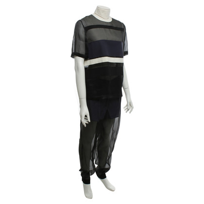 Cédric Charlier top & trousers with color blocking
