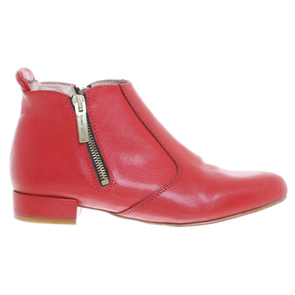Russell & Bromley Leather ankle boots in red