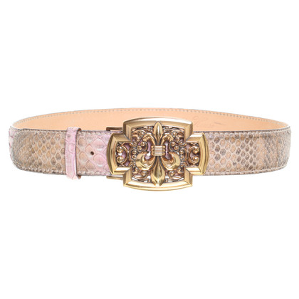 Reptile's House Python belt in pink