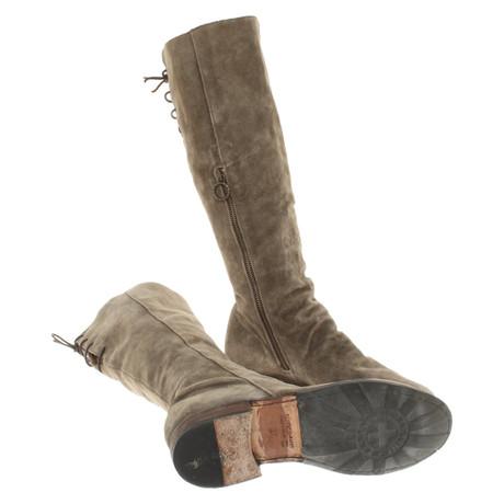 Fiorentini & Baker Wildleder-Stiefel in Khaki Khaki