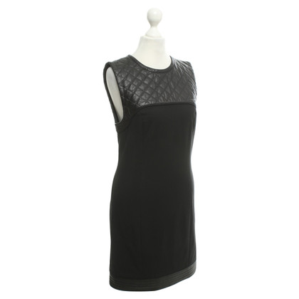 Alexander Wang Leather-trimmed dress