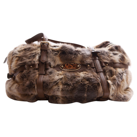 Günstig Kaufen Websites Gucci Handtasche mit Kaninchen-Pelz Braun Freies Verschiffen Ausgezeichnet Rabatt Breite Palette Von Online Shop HlVhSP