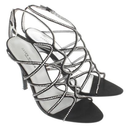 Karen Millen Strappy sandalen in zwart