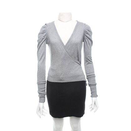 Patrizia Pepe Wrap sweater in grey