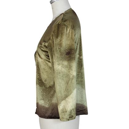 Roberto Cavalli Roberto Cavalli green lycra shirt
