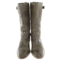 Belstaff Leather boots in green