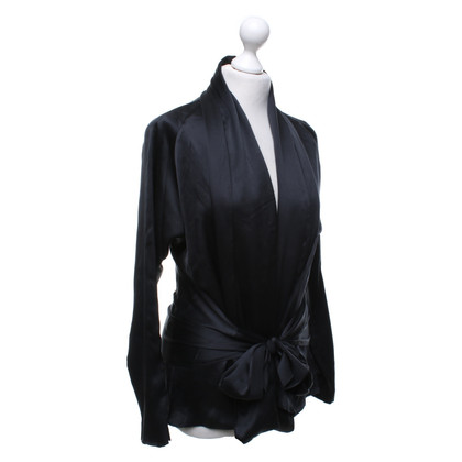 Etro Top en soie noir