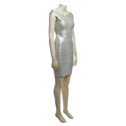 Herve Leger Dress with silver finish
