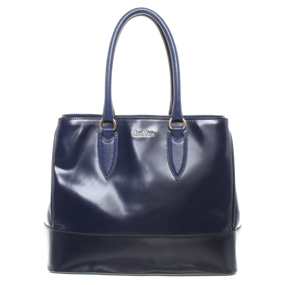Max Mara Handbag In Dark Blue
