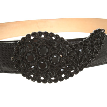 Etro Belt with rhinestone buckle