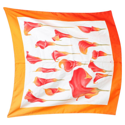 Aigner Silk scarf with flower pattern