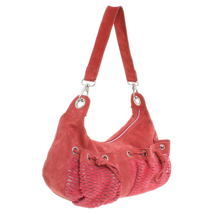 Strenesse Blue Red suede handbag