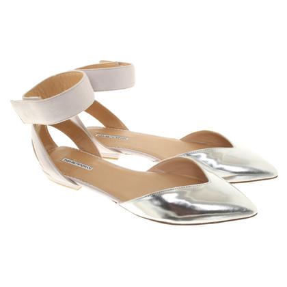 Armani Ballerinas in Silber/Beige