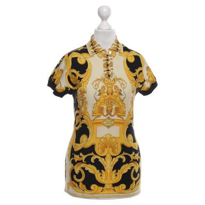 Gianni Versace Polo-Shirt in Gelb/Schwarz