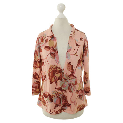 Dolce & Gabbana Silk cardigan sweater with flower pattern