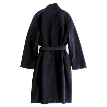 Max Mara Wrap coat in black