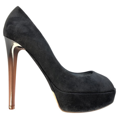 Christian Dior Suede peep-toes