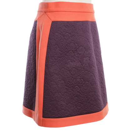 Missoni Minirock in Orange/Violett