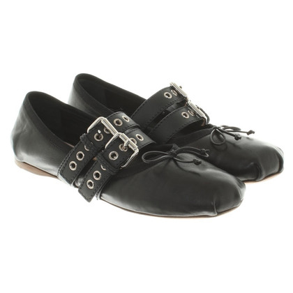 Miu Miu Ballerinas in black