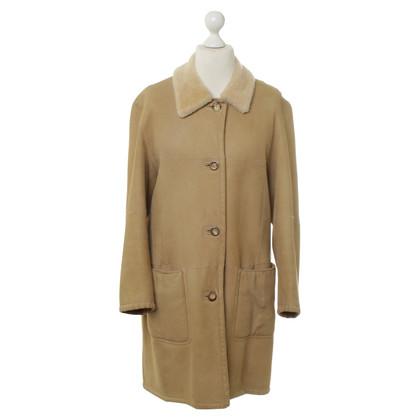 Cerruti 1881 Sheepskin coat in beige
