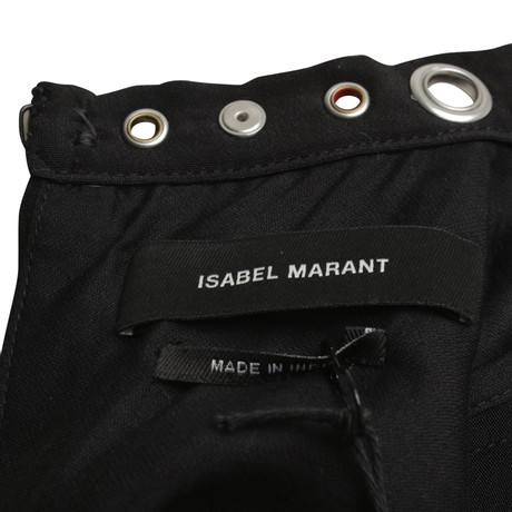 Schwarz Bluse Zierstickerei Bluse Isabel mit mit Marant Marant Marant Schwarz Bluse Isabel Isabel Zierstickerei xZXnwq