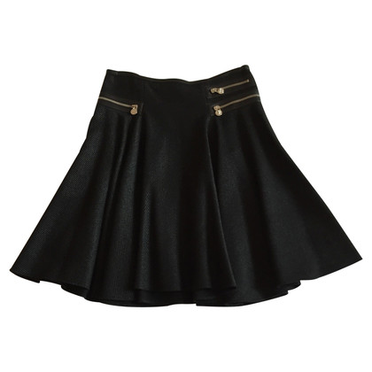Versace Black skirt in metallic wool 38 IT