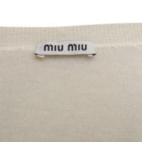 Miu Miu Fine knit sweater in cream