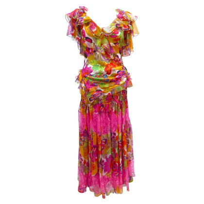 Christian Dior 2-delige Midi zijden jurk
