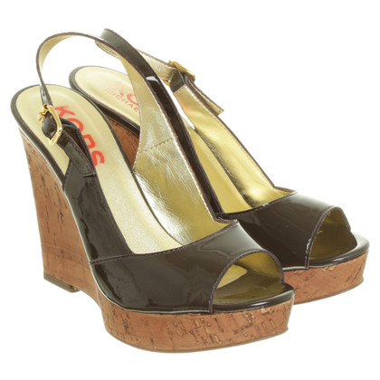 Michael Kors Offene Wedges in Dunkelbraun