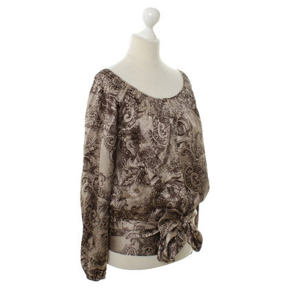 BCBG Max Azria Silk top with pattern