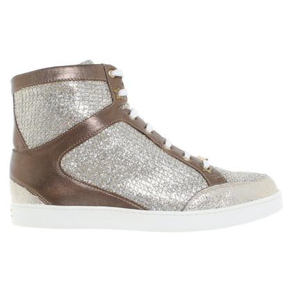 Jimmy Choo Sneakers in silver / gold