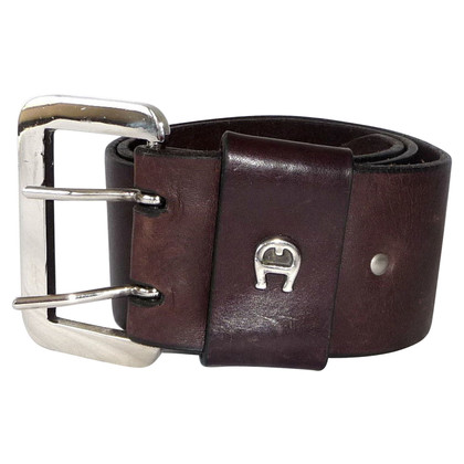 Aigner Wide leather belt