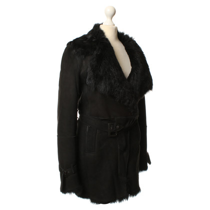 Costume National Black shearling coat