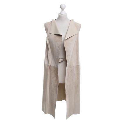 Jil Sander Leather vest in beige