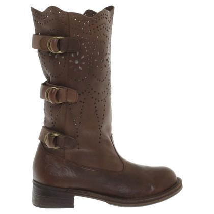 Twin-Set Simona Barbieri Leather boots in brown