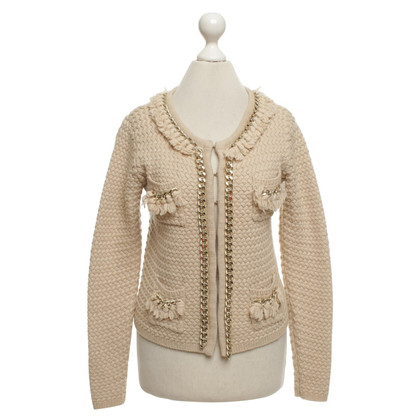 Elisabetta Franchi Strickjacke in Beige/Gold