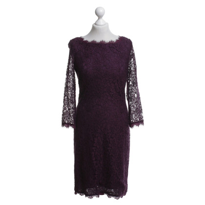 Diane von Furstenberg Lace dress in Bordeaux