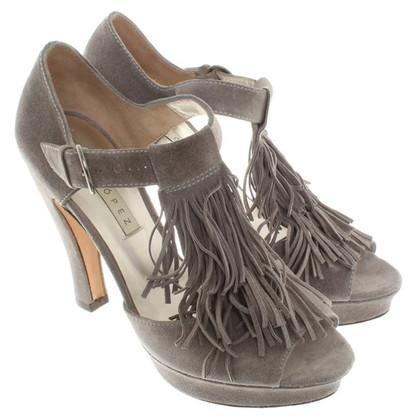 Pura Lopez Peep-Toes in Grau