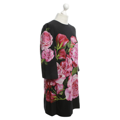 Dolce & Gabbana Silk dress with floral pattern