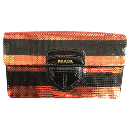 Prada clutch with sequins