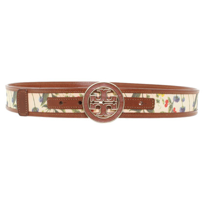 Tory Burch Leather belt with print