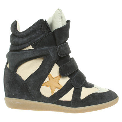 Isabel Marant Wedges in Blau/Beige