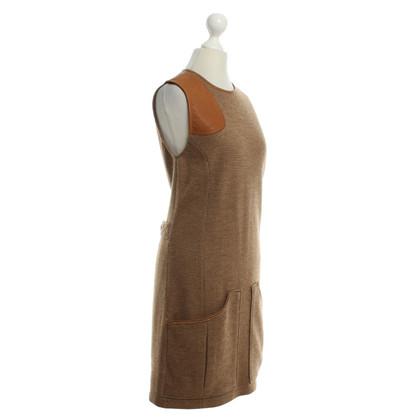 Ralph Lauren Abito in lana con dettagli in pelle