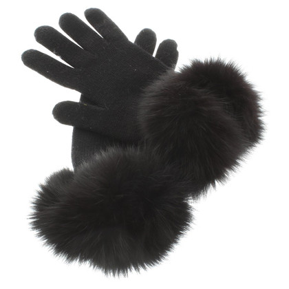 Andere merken Regina - handschoenen zwart met bont