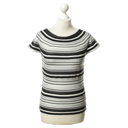 Armani Collezioni Striped fine knit shirt