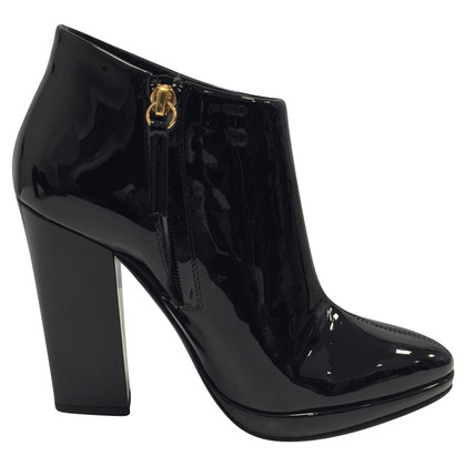 Giuseppe Zanotti Black patent leather ankle boots