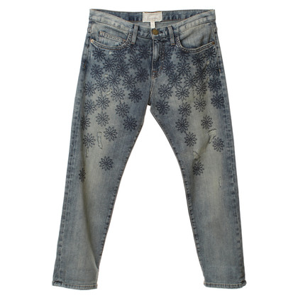 Current Elliott Boyfriend jeans with embroidery