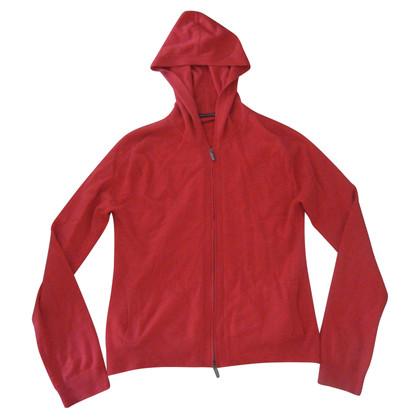 Iris von Arnim maglione di cachemire con un cappuccio rosso L