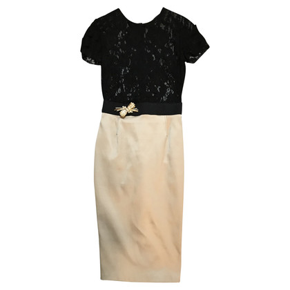 Elisabetta Franchi Dress with rhinestone brooch