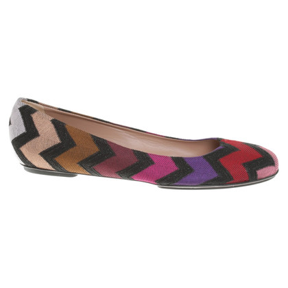 Missoni Ballerinas with chevron pattern